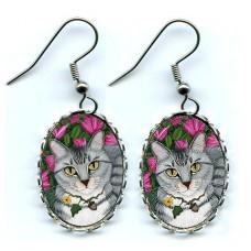 Earrings - Garden Cat