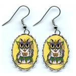 Earrings - Lil Mardi Gras Cat
