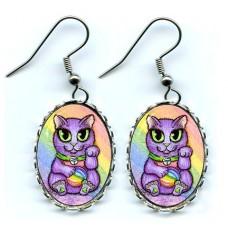 Earrings - Maneki Neko Creativity Cat