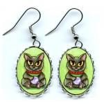 Earrings - Maneki Neko Health Cat