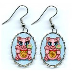 Earrings - Maneki Neko Love Cat