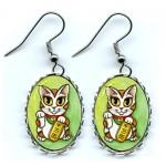 Earrings - Maneki Neko Luck Cat
