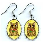 Earrings - Maneki Neko Wealth Cat