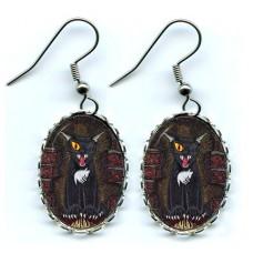 Earrings - The Black Cat