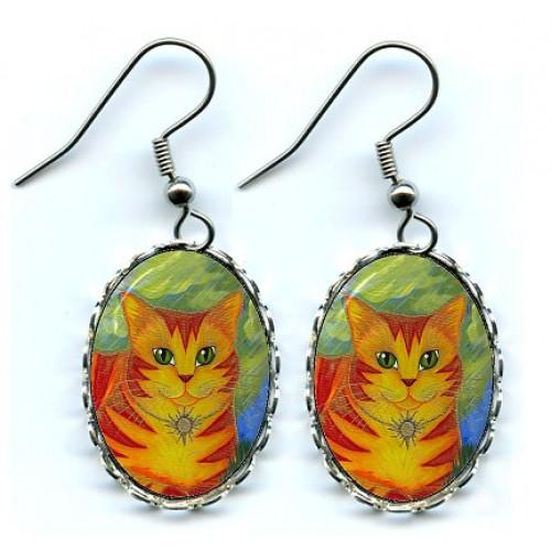 Earrings - Rajah Sun Cat