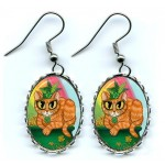 Earrings - St. Paddy's Day Cat