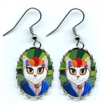 Earrings - Senorita Cat