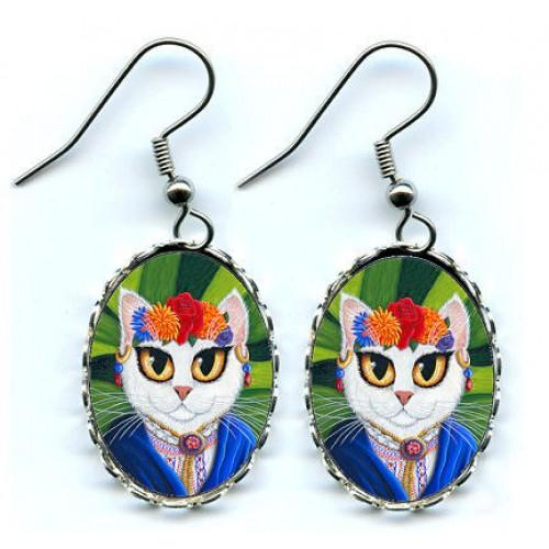 Earrings - Senorita Cat