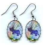 Earrings - Spring Showers Fairy Cat