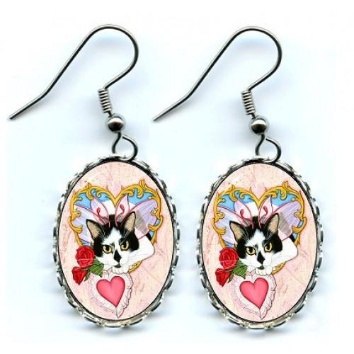 Earrings - My Feline Valentine