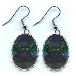 Earrings - Bela Vampire Cat