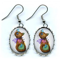 Earrings - Voodoo Cat Doll