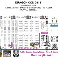 DragonCon Map 2018
