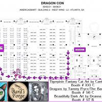 DragonConCon 2021 Tigerpixie Cat Art Booth # 100 C