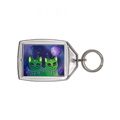 Keychain - Alien Cats