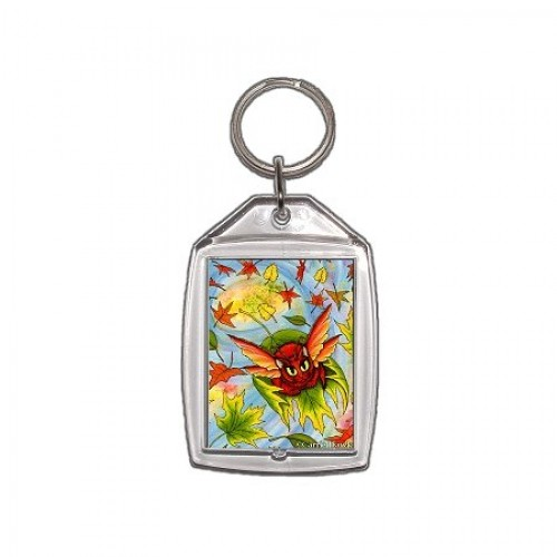 Keychain - Autumn Winds Fairy Cat