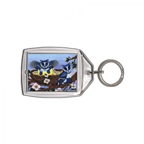 Keychain - Blue Jay Kittens