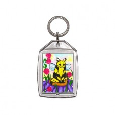 Keychain - Buzz Bumble Bee Cat