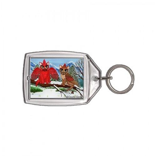 Keychain - Cardinal Cats