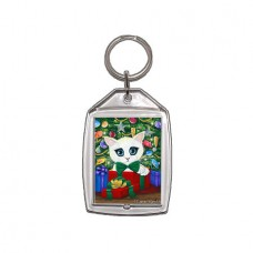 Keychain - Christmas Kitten Boy