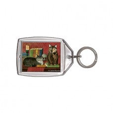 Keychain - Classic Literary Cats
