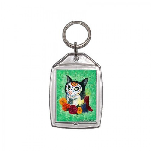Keychain - Day of the Dead Cat Candles