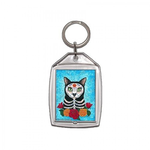 Keychain - Day of the Dead Cat