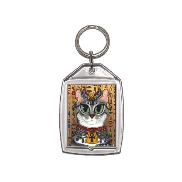 Bastet Cat Key Ring