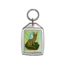 Keychain - Elemental Earth Fairy Cat