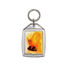 Keychain - Elemental Fire Fairy Cat
