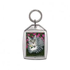 Keychain - Garden Cat