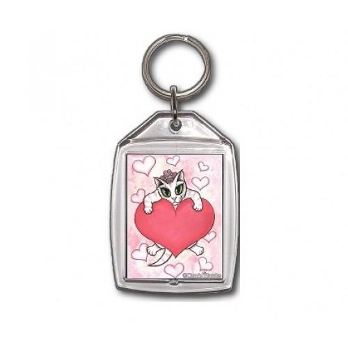Keychain - Kitten With Heart