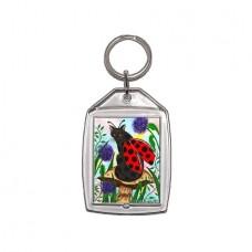 Keychain - Logan Ladybug Cat