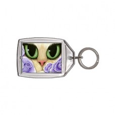 Keychain - Lavender Roses
