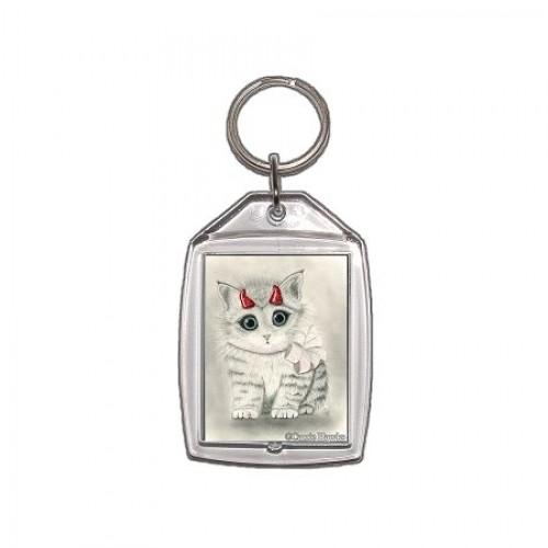 Keychain - Little Red Horns
