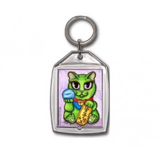 Keychain - Maneki Neko Ambition Cat