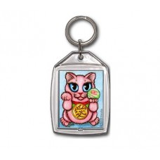 Keychain - Maneki Neko Love Cat