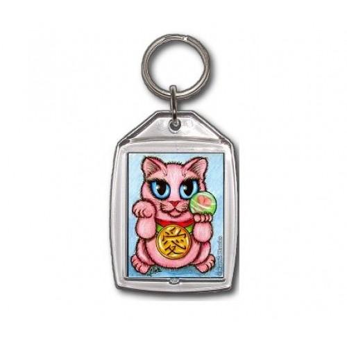 Keychain - Maneki Neko Love Cat
