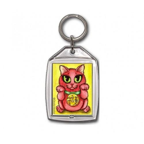 Keychain - Maneki Neko Protection Cat