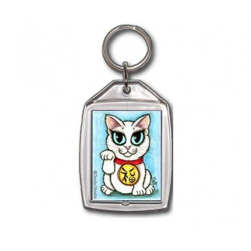 Keychain - Maneki Neko Purity Cat