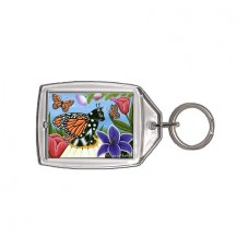 Keychain - Monarch Butterfly Fairy Cat