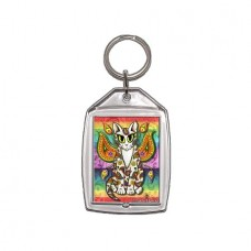 Keychain - Rainbow Paisley Fairy Cat