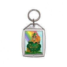 Keychain - St. Paddy's Day Cat