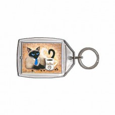 Keychain - Siamese Coffee Cat