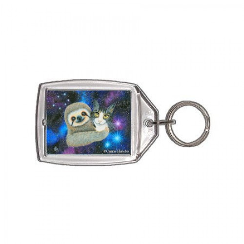 Keychain - Trixie and Her Sloth Friend