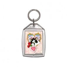 Keychain - My Feline Valentine