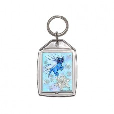 Keychain - Winter Snowflake Fairy Cat