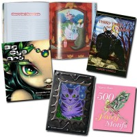 Books Big Eye Art: Resurrected and Transformed, 500 Fairy Motifs, Third Times The Charm (cover art) Astra Moon Cat Journal (Past Licensee)
