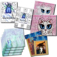 Crafts Cross Stitch Patterns (Heaven & Earth Designs) Scrap booking Pages & Fabric Squares (Past Licensee) Coloring Books