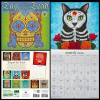 Calendar Art Day of the Dead Cat Calendar Art (Amber Lotus Publishing)